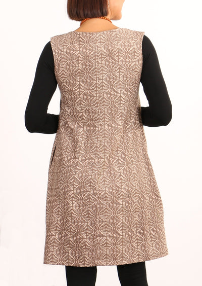 Dori Cord Dress Square Stitch Latte