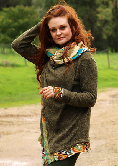 Arwen Hooded Jacket Green