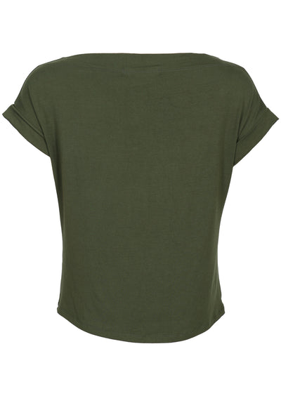 Wide Neck Mod Top Olive