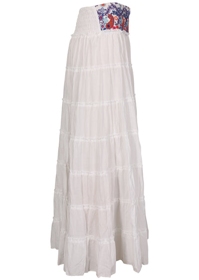Gypsy Tiered Skirt White