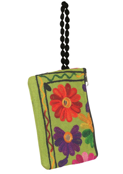 Embroidered Flower Coin Purse