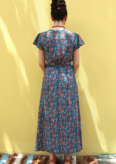 Francesca Dress Johari Blue