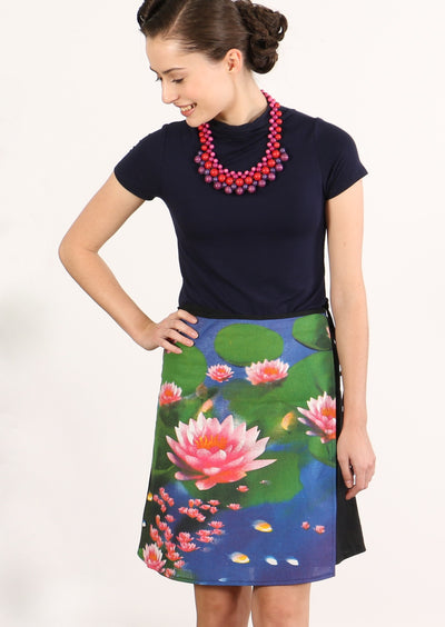 Short Wrap Skirt Lotus