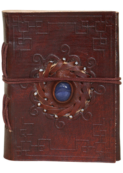 Embossed Leather Notebook 8.5x12.5cm