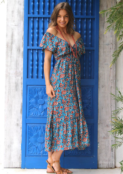 Nakita Dress Johari Blue