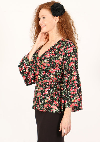 Rambling Rose Wrap Top