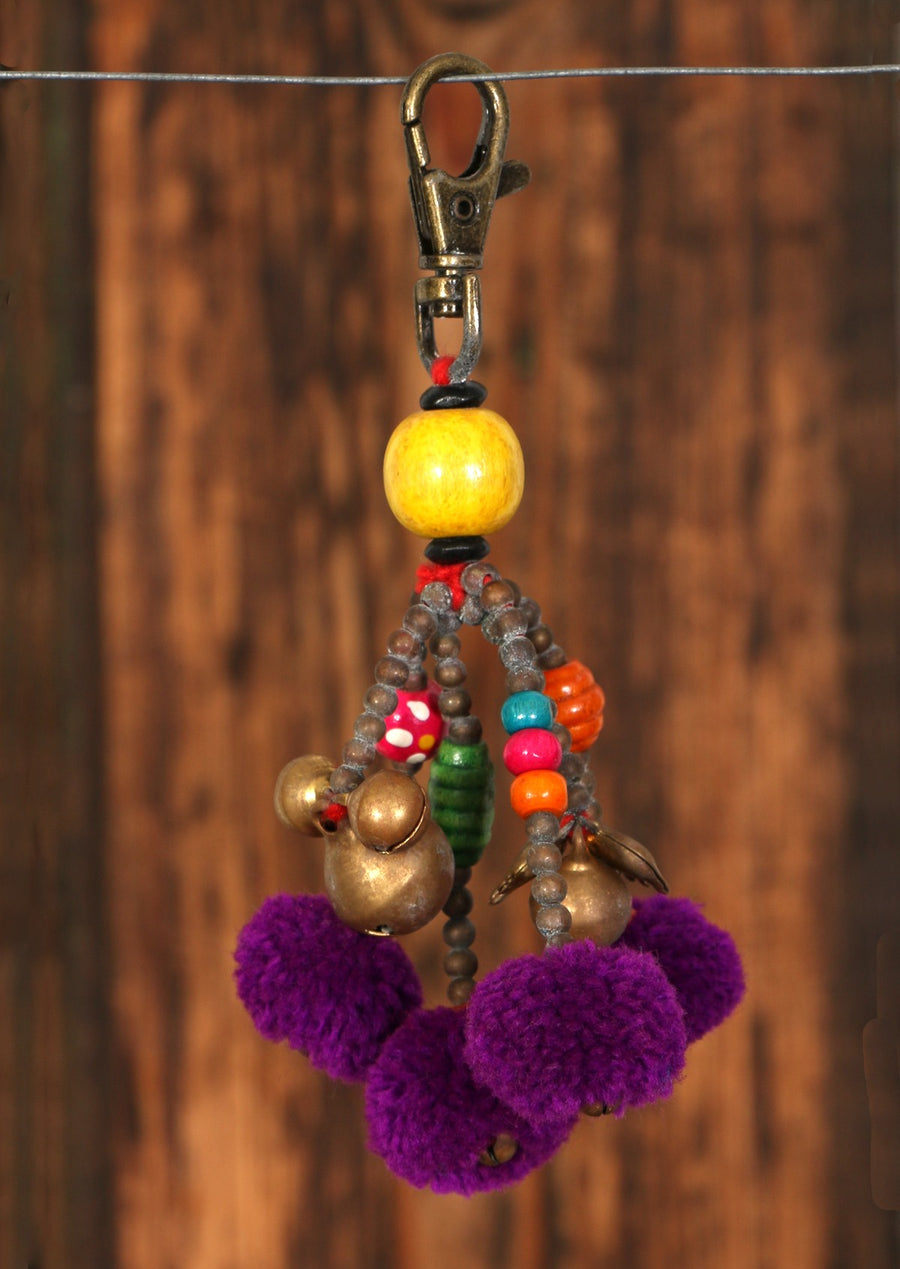 Boho Gypsy Colourful Bag Keychain | Karma East