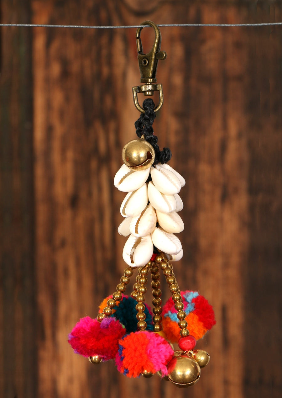 Boho Gypsy Shells Bag Keychain | Karma East