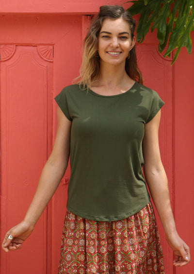 Shell T-shirt Olive