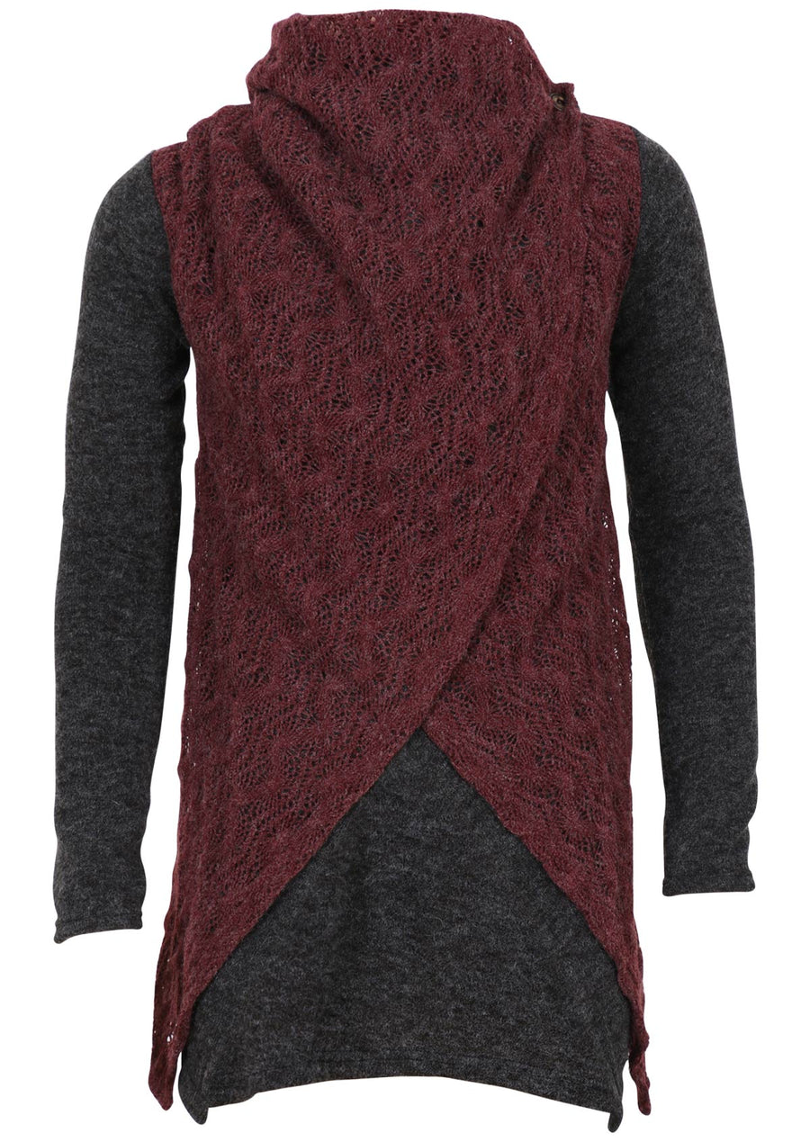 Tauriel Jacket Charcoal with Maroon