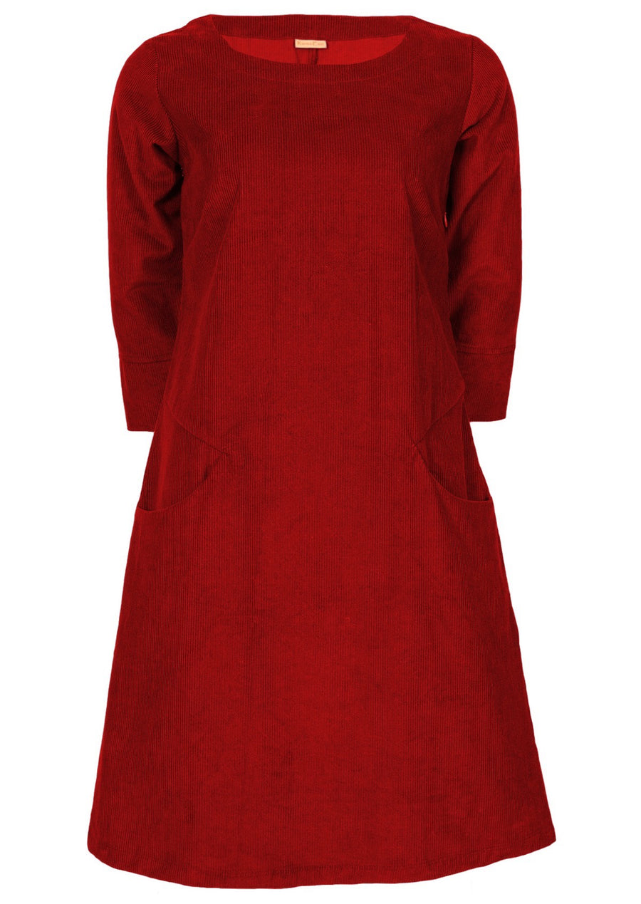 Jamie Cord Dress Cherry