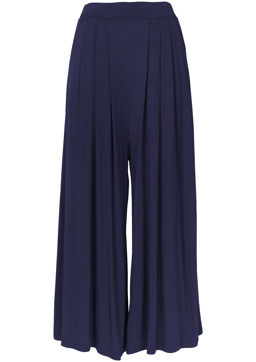 Wide Leg Stretch Pocket Pants Midnight