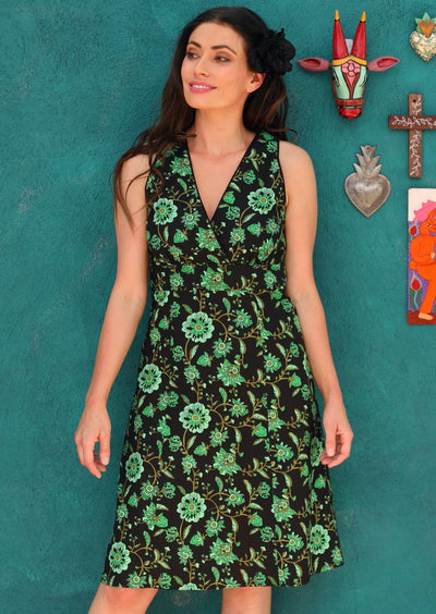 Merisol Dress Lime Swirls