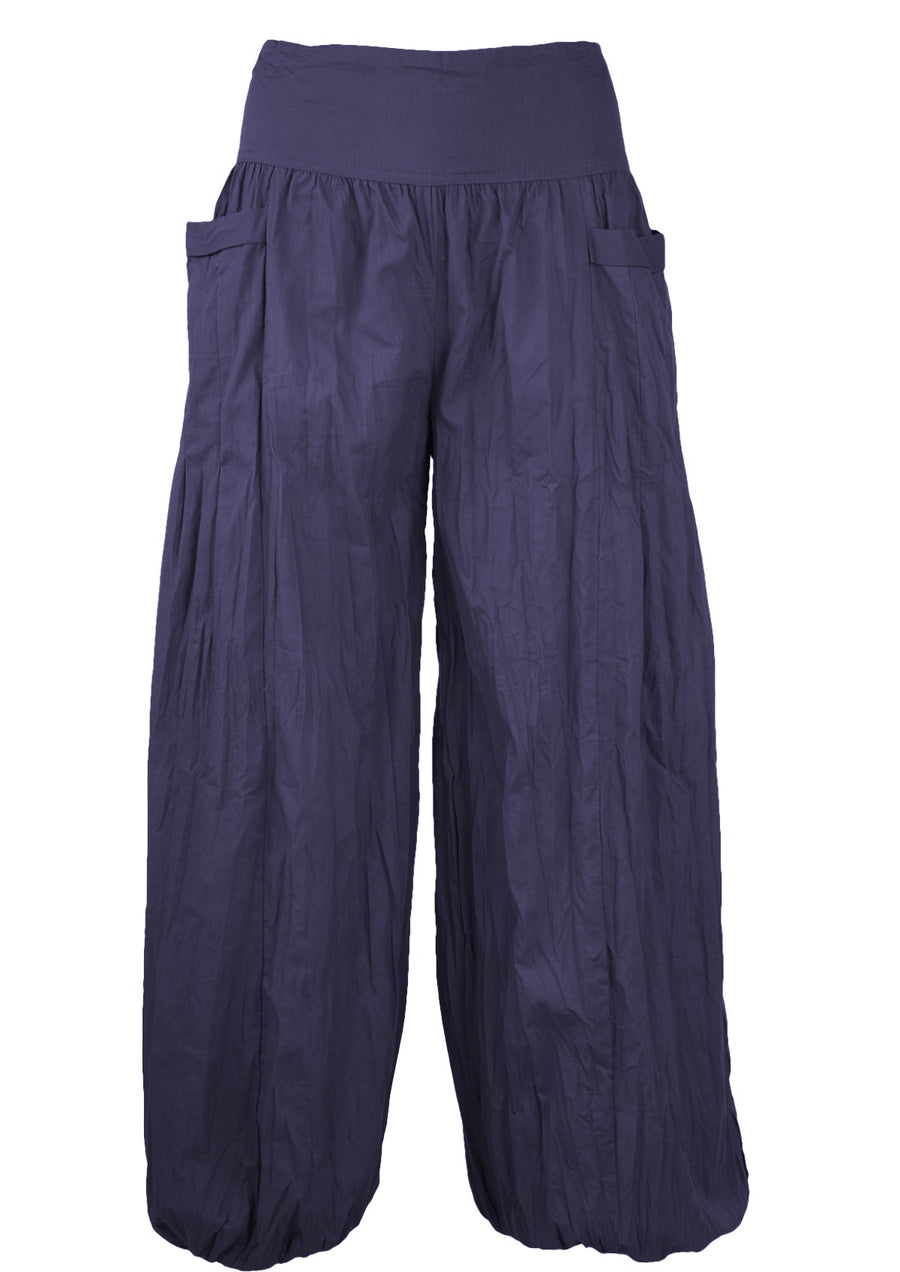 Cotton Harem Pants Navy Blue | Karma East Australia