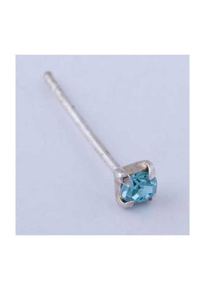 Sterling Silver Nose Stud Square