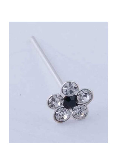 Sterling Silver Nose Stud Flower