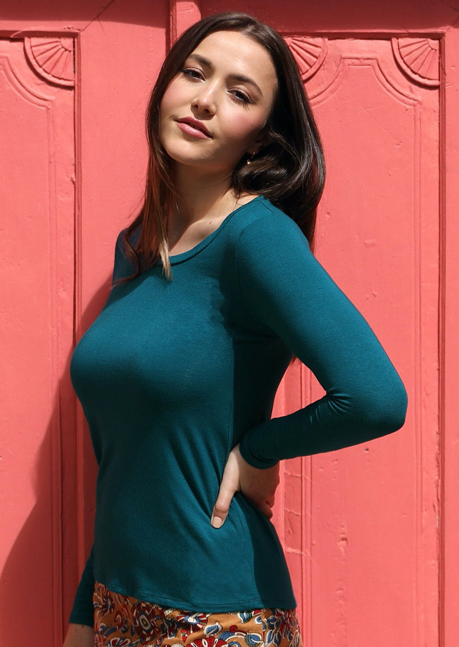Round Neck Top Teal