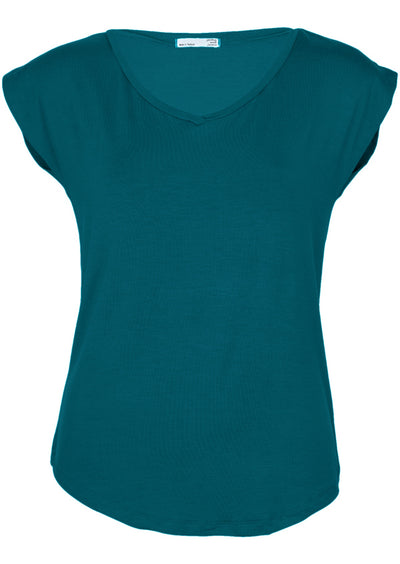 Simple Top V-neck Teal