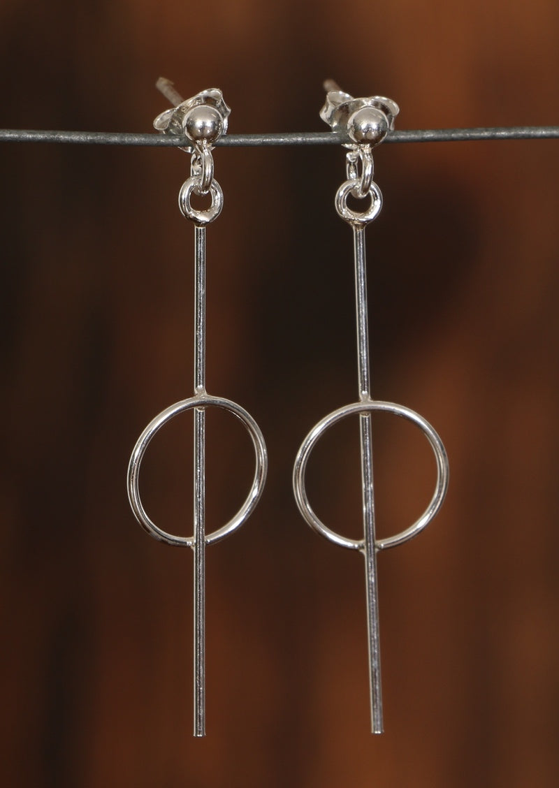 Modern Stirling Silver Earrings, Shop genuine 92.5 sterling silver