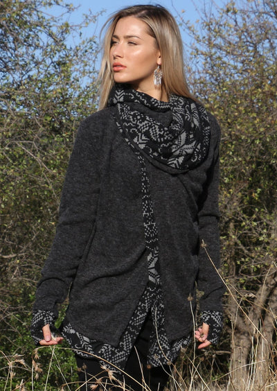 Arwen Hooded Jacket Charcoal