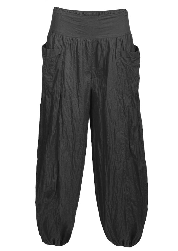 Black Cotton Harem Pants | Karma East Australia