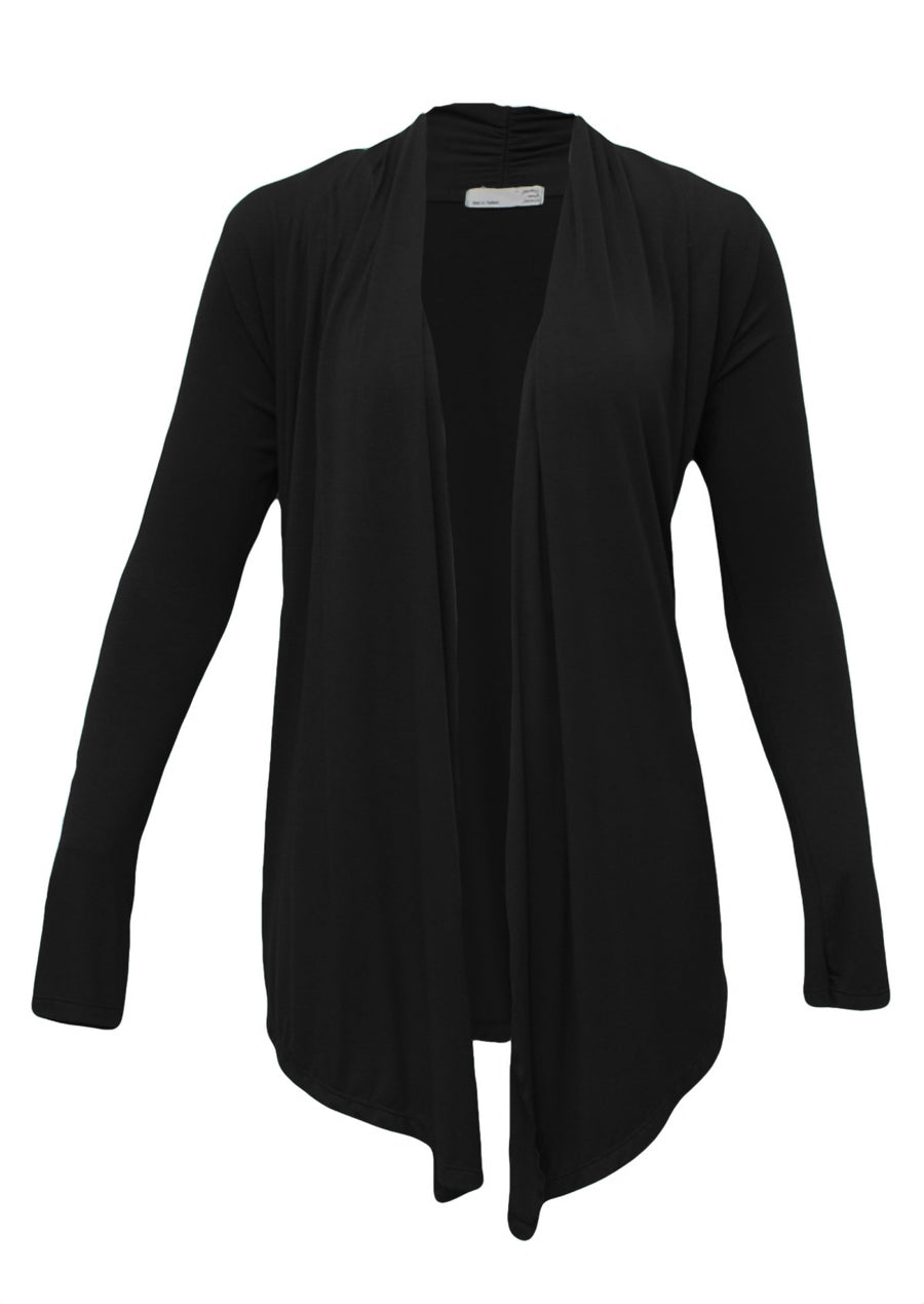 Long Sleeve Stretch Cardi Black
