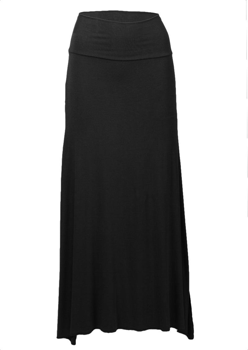 Long Stretch Skirt Black