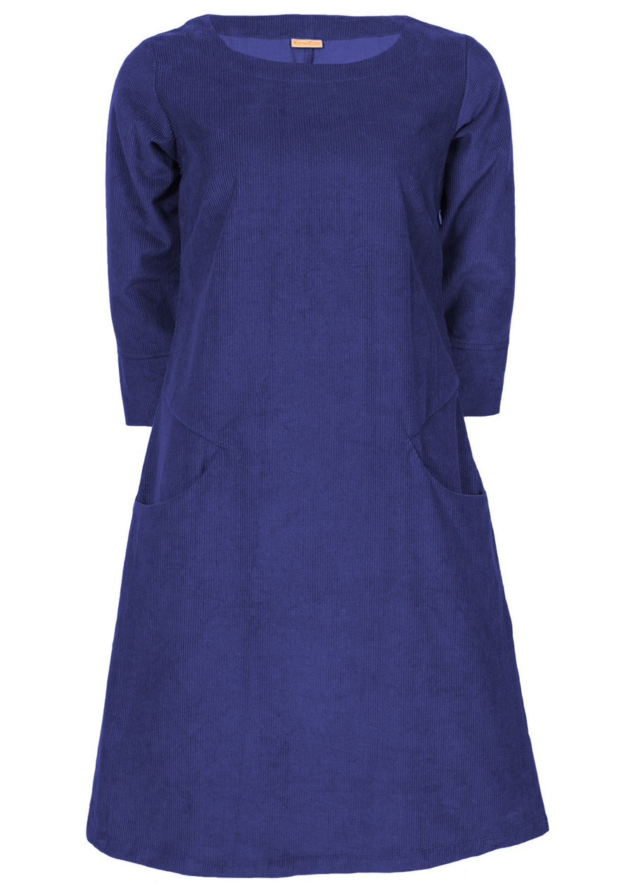 Jamie Cord Dress Blue Depths