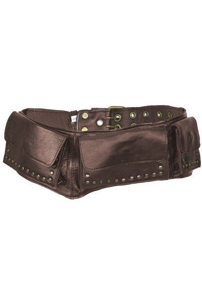 Leather Festival Belt Brown