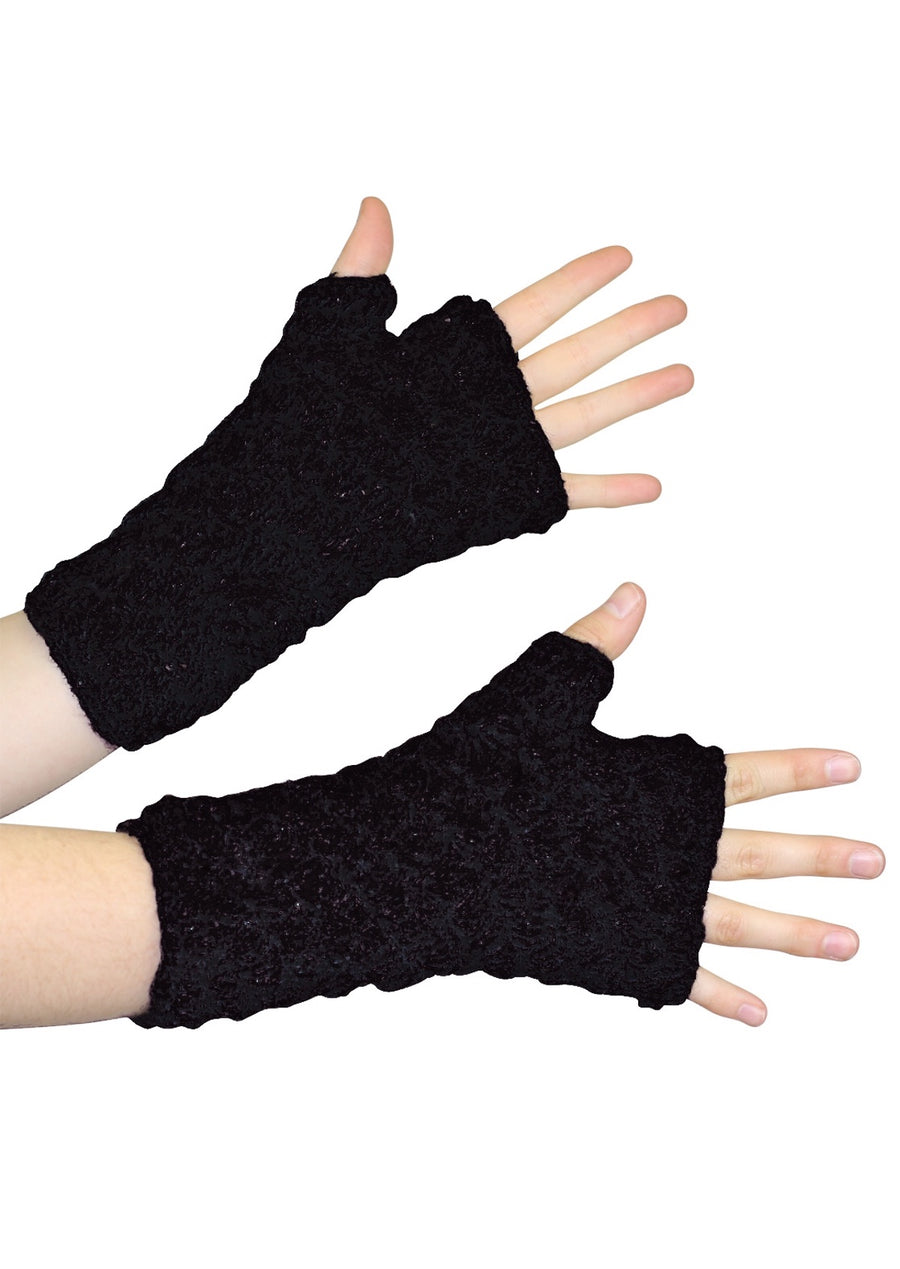Knitted Wrist Warmers Black
