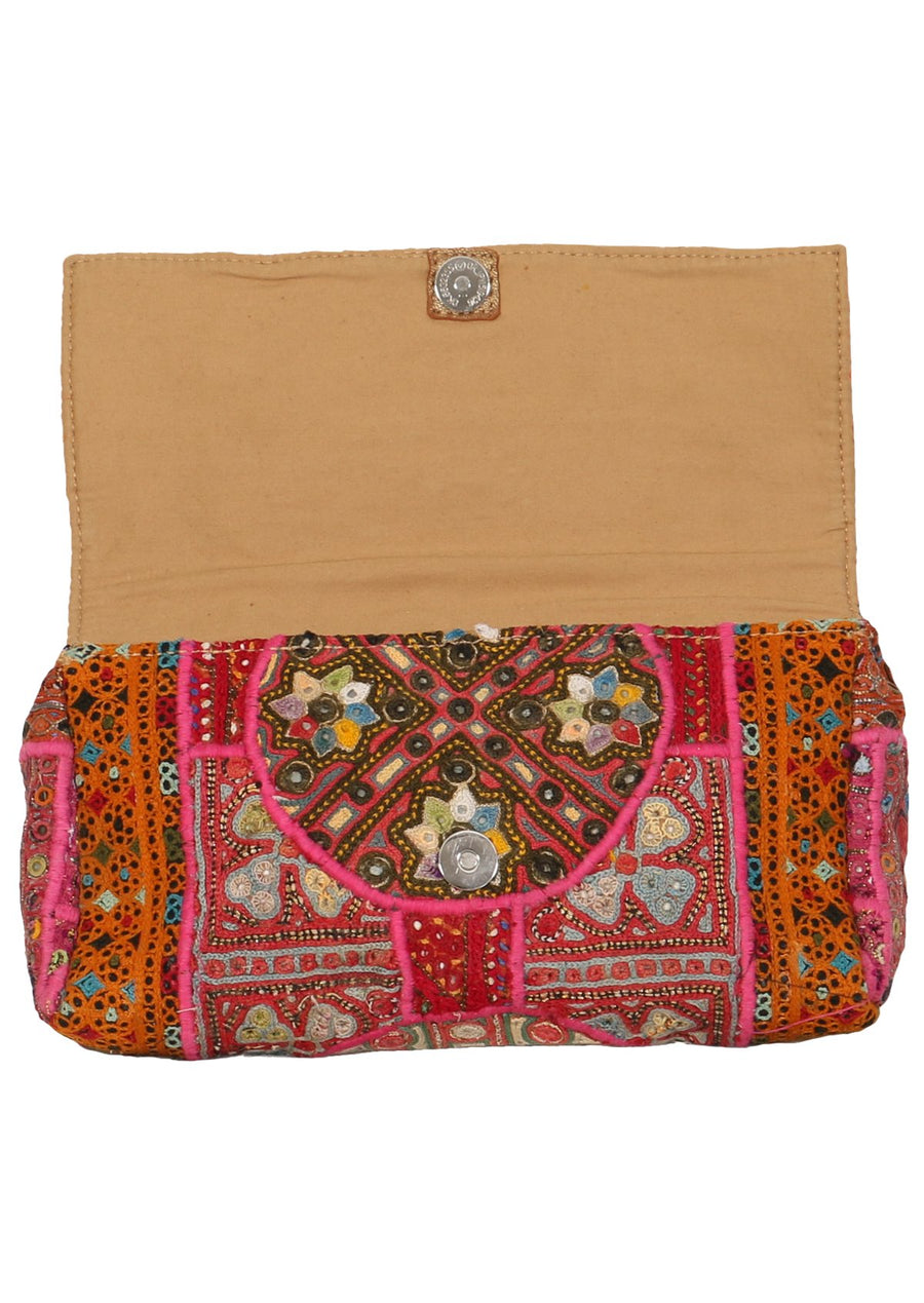 Vintage Bohemian Purse Orange | Karma East Australia