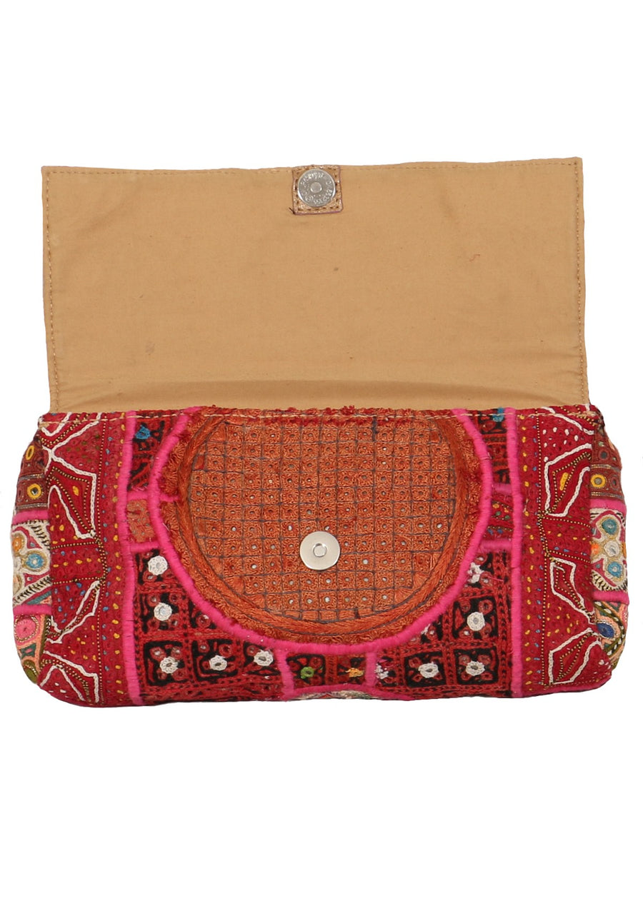Vintage Boho Clutch Red | Karma East Australia