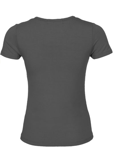 Scoop Neck T-Shirt Dark Grey