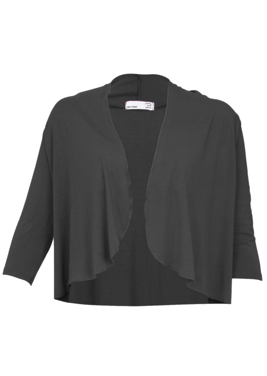 Bolero Top Dark Grey