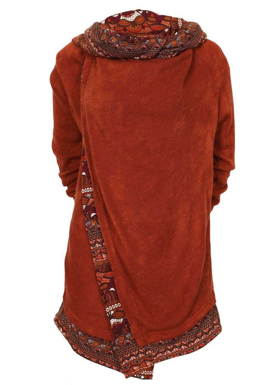 Arwen Hooded Jacket Rust