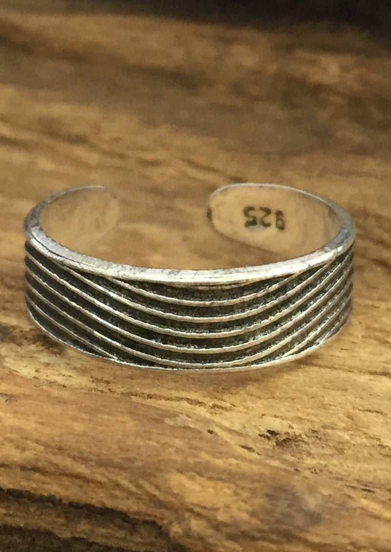 Dune Silver Toe Ring