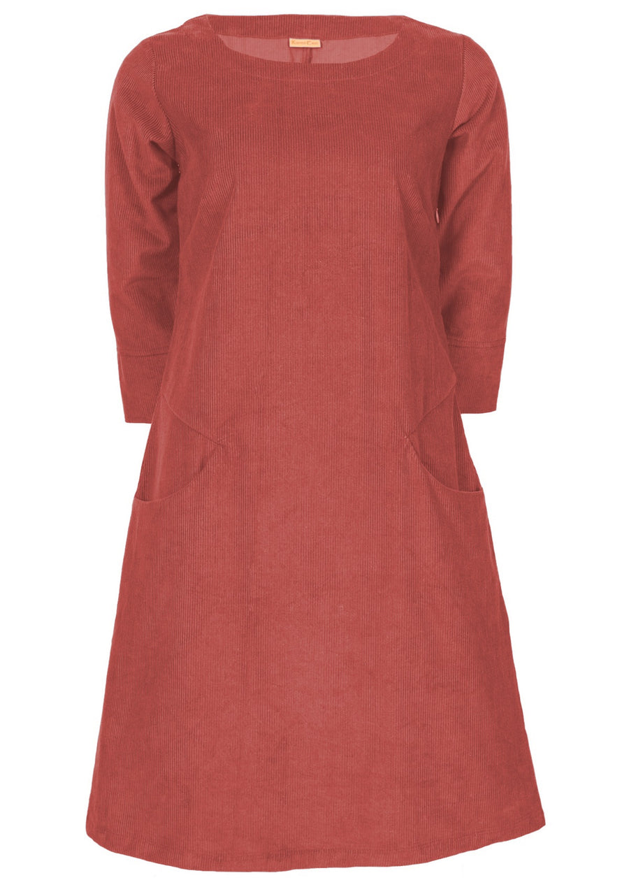 Jamie Cord Dress Dusty Rose