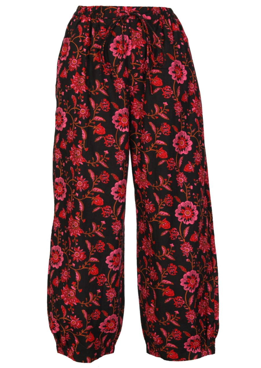 Cotton Harem Pants Green Print | Karma East Australia