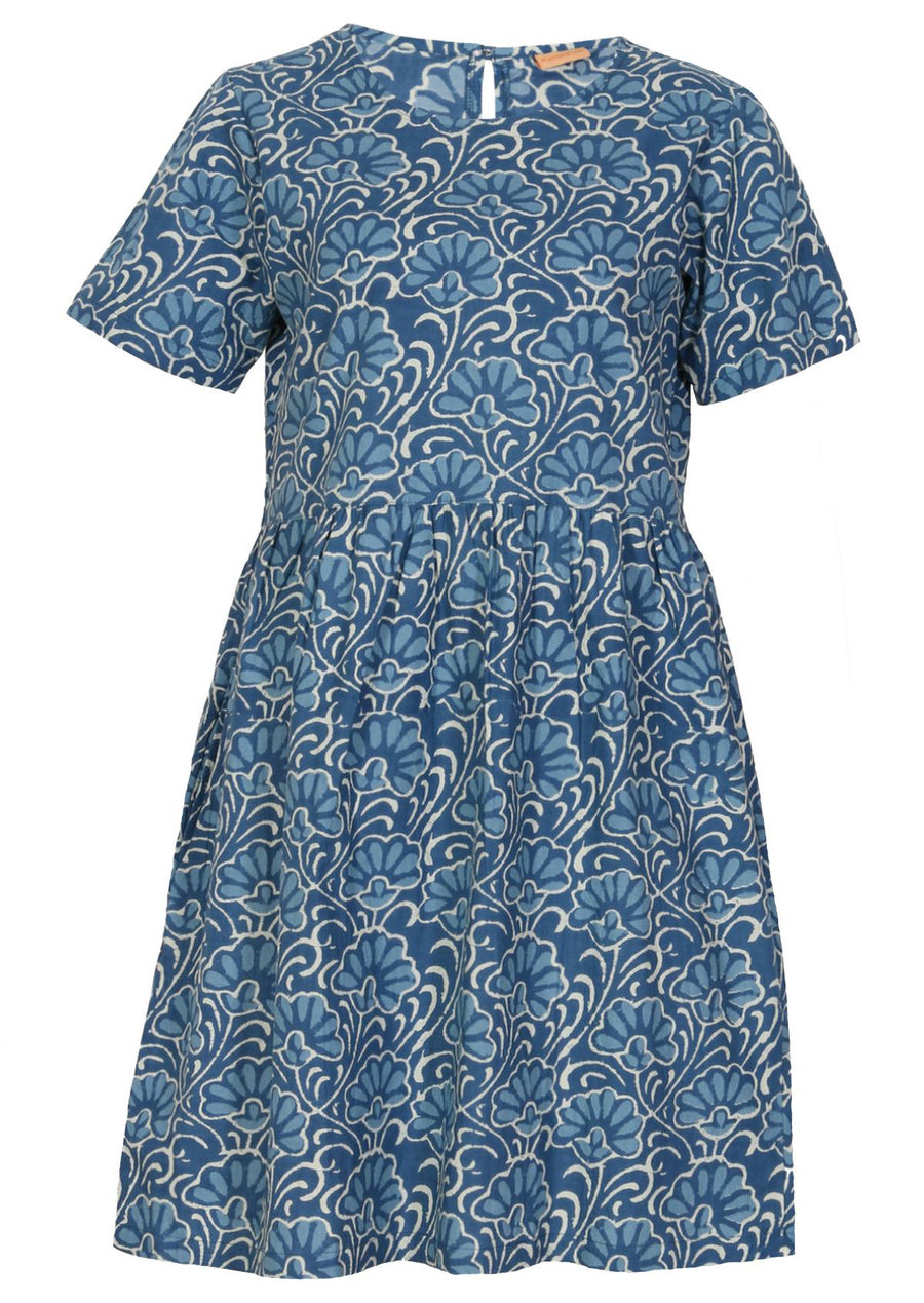 Loose Fit Cotton Dress Blue | Karma East Australia