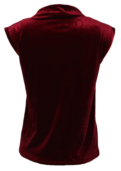 Sleeveless Velvet Top Ruby
