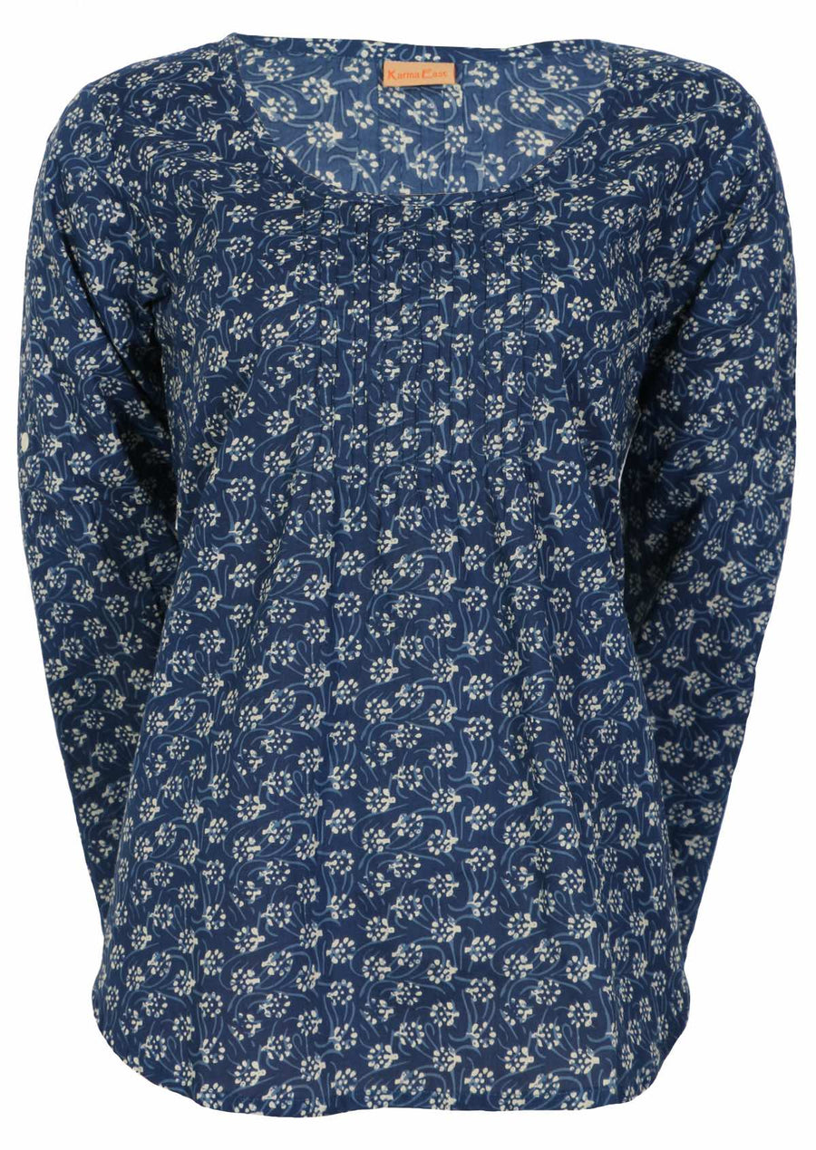 Tulsi Long Sleeve Top Bluebell