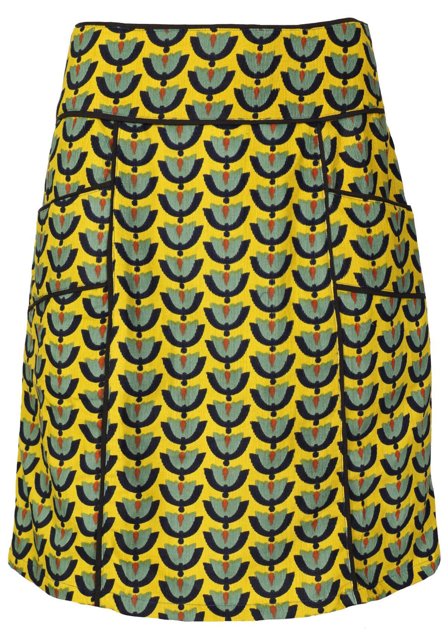 Corduroy Skirt Yellow | Karma East Australia