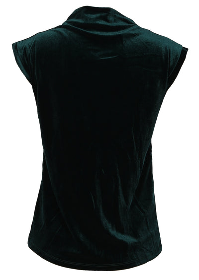 Sleeveless Velvet Top Emerald