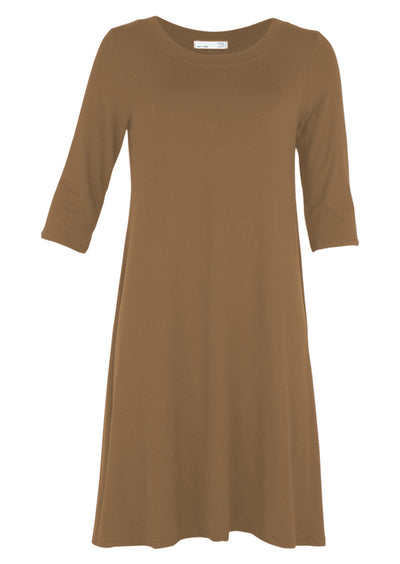 Half Sleeve Jersey Dress Cocoa