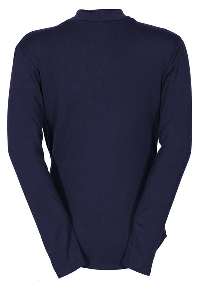 Long Sleeve Cowl Neck Top Midnight