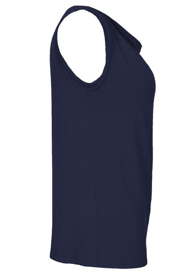 Cowl Neck Singlet Top Midnight
