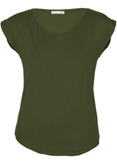 Simple Top V-neck Olive
