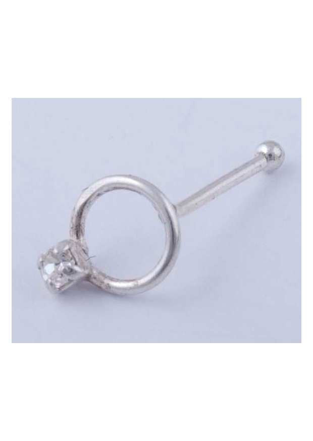 Sterling Silver Nose Stud Circle