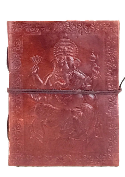 EMBOSSED LEATHER JOURNAL 12x15cm