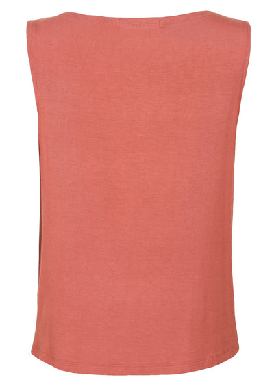 Cowl Neck Singlet Top Dusty Rose